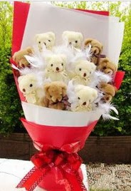 11 adet ayi buketi en güzel hediye  Ankara uluslararası çiçek gönderme