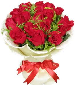 19 adet kırmızı gülden buket tanzimi  Ankara ümitköy çiçek servisi , çiçekçi adresleri