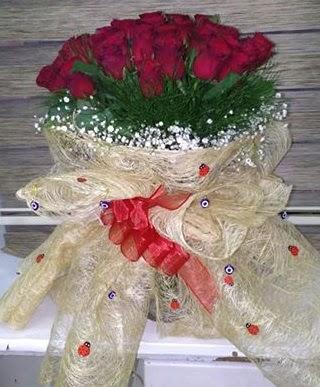 41 adet kırmızı gülden kız isteme buketi  Ankara karacakaya internetten çiçek satışı