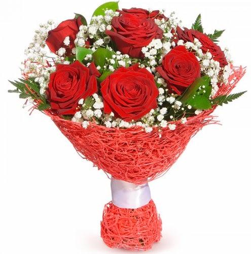 7 adet kırmızı gül buketi  Ankara macunköy çiçekçiler