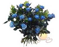 Ankara etimesgut çiçek , çiçekçi , çiçekçilik  11 adet mavi gül özel tanzim