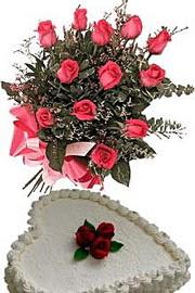 Ankara demetevler ucuz çiçek gönder  Yas pasta ve özel gül buketi