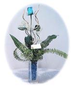 Ankara bilkent çiçek online çiçek siparişi  Kalite mika yada cam vazo mavi gül tanzim
