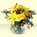 Ankara şentepe internetten çiçek siparişi  sari güller ve sari lilyum