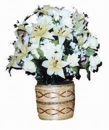yapay karisik çiçek sepeti   Ankara hacettepe çiçek mağazası , çiçekçi adresleri