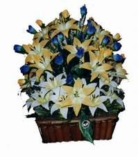 yapay karisik çiçek sepeti   Ankara sincan çiçek gönderme