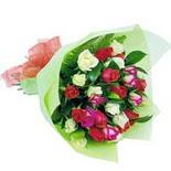 12 adet renkli gül buketi   Ankara ostim çiçek gönderme sitemiz güvenlidir