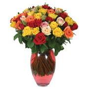 51 adet gül ve kaliteli vazo   Ankara ostim çiçek gönderme sitemiz güvenlidir