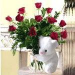 9 adet kirmizi gül    Ankara etimesgut çiçek , çiçekçi , çiçekçilik