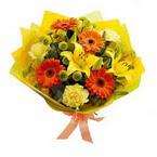 Ankara etimesgut çiçek , çiçekçi , çiçekçilik  orta boy  buket demetlik - karisik buket anneler günü  için -