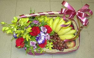 Ankara karacakaya internetten çiçek satışı  SEPET IÇERISINDE MEVSIM MEYVALARI