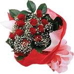 Ankara karacakaya internetten çiçek satışı  KIRMIZI AMBALAJ BUKETINDE 12 ADET GÜL