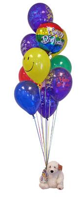 Ankara eryaman çiçekçi telefonları  Sevdiklerinize 17 adet uçan balon demeti yollayin.