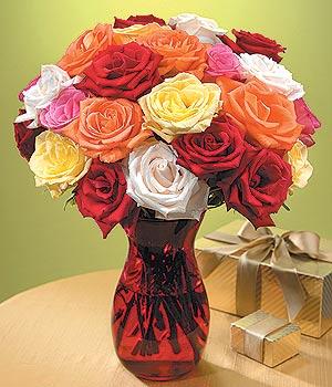 Ankara anneler günü çiçek yolla  13 adet renkli gül