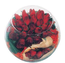 Ankara anneler günü çiçek yolla  Cam fanus içerisinde sevdiklerinize özel 12 gül