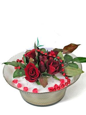 Ankara varlık mahallesi çiçek siparişi vermek  EN ÇOK Sevenlere 7 adet kirmizi gül mika yada cam tanzim
