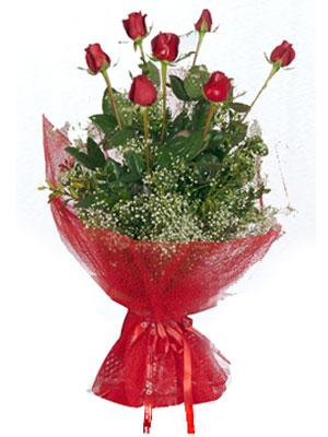 Ankara ümitköy çiçek servisi , çiçekçi adresleri  7 adet gülden buket görsel sik sadelik