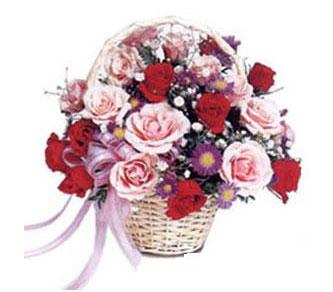 Ankara macunköy çiçekçiler  Karisik gül sepeti 13 adet gül güller