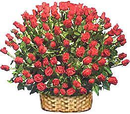 Ankara çiçek yolla , çiçek gönder , çiçekçi   51 adet kirmizi gül sepet içerisinde