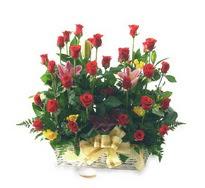 Ankara hacettepe çiçek mağazası , çiçekçi adresleri  15 adet kirmizi gülden sepet tanzimi