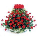 Ankara ergazi kaliteli taze ve ucuz çiçekler  41 adet kirmizi gülden sepet tanzimi