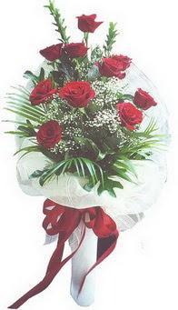 Ankara ivedik hediye çiçek yolla  10 adet kirmizi gülden buket tanzimi özel anlara