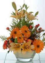 Ankara ümitköy çiçek servisi , çiçekçi adresleri  cam yada mika vazo içinde karisik mevsim çiçekleri