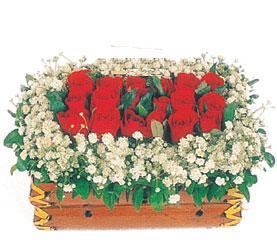 Ankara batıkent çiçek yolla  11 adet kirmizi gül sepeti
