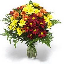 Ankara lalegül çiçek siparişi sitesi  Karisik çiçeklerden mevsim vazosu