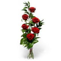 Ankara lalegül çiçek siparişi sitesi  cam yada mika vazo içerisinde 6 adet kirmizi gül