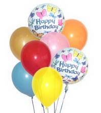 Ankara ivedik hediye çiçek yolla  17 adet karisik renkte uçan balonlar