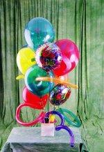 Ankara kardelen güvenli kaliteli hızlı çiçek  karisik görüntüde renkli uçan balon buketi