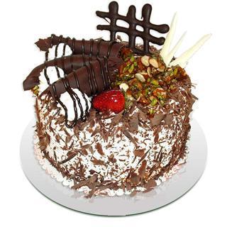 4 ile 6 kisilik çikolatali yas pasta  Ankara ergazi kaliteli taze ve ucuz çiçekler