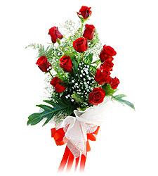 11 adet kirmizi güllerden görsel sölen buket  Ankara varlık mahallesi çiçek siparişi vermek