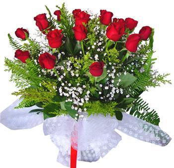 11 adet gösterisli kirmizi gül buketi  Ankara karacakaya internetten çiçek satışı