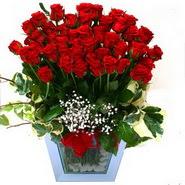 Ankara şentepe internetten çiçek siparişi   51 adet kirmizi gül aranjmani