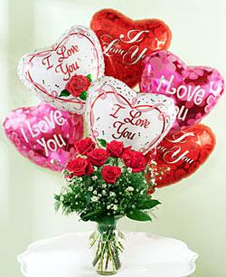 seni seviyorum yazili kalp uçan balonlar