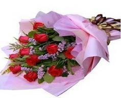 11 adet kirmizi güllerden görsel buket  Ankara ostim çiçek gönderme sitemiz güvenlidir