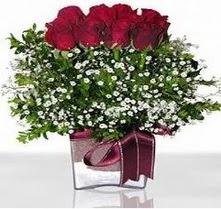 Ankara karacakaya internetten çiçek satışı  mika yada cam vazo içerisinde 7 adet gül