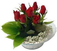 Ankara karacakaya internetten çiçek satışı  cam yada mika içerisinde 5 adet kirmizi gül
