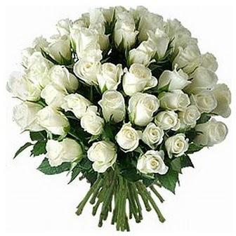 Ankara ümitköy çiçek servisi , çiçekçi adresleri  33 adet beyaz gül buketi