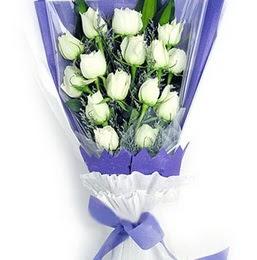 Ankara gazi mahallesi çiçekçi mağazası  11 adet beyaz gül buket modeli