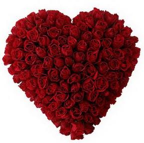 Ankara gazi mahallesi çiçekçi mağazası  muhteşem kırmızı güllerden kalp çiçeği