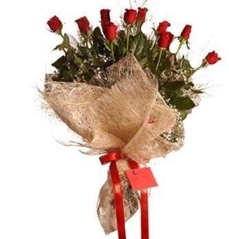 Ankara ümitköy çiçek servisi , çiçekçi adresleri  10 adet kırmızı gülden görsel buket