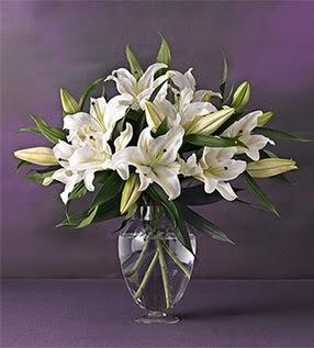 Ankara yenimahalle İnternetten çiçek siparişi  4 dal cazablanca vazo çiçeği