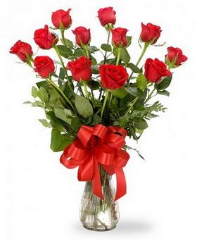 Ankara etimesgut çiçek , çiçekçi , çiçekçilik  12 adet kırmızı güllerden vazo tanzimi