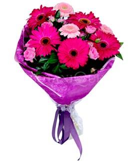 Ankara lalegül çiçek siparişi sitesi  karışık gerbera çiçeği buketi