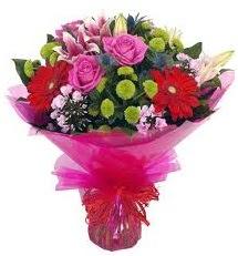 Karışık mevsim çiçekleri demeti  Ankara yenimahalle online çiçek gönderme sipariş