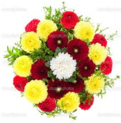 Ankara gazi mahallesi çiçekçi mağazası  13 adet mevsim çiçeğinden görsel buket