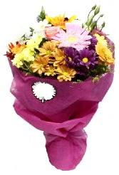 1 demet karışık görsel buket  Ankara anneler günü çiçek yolla